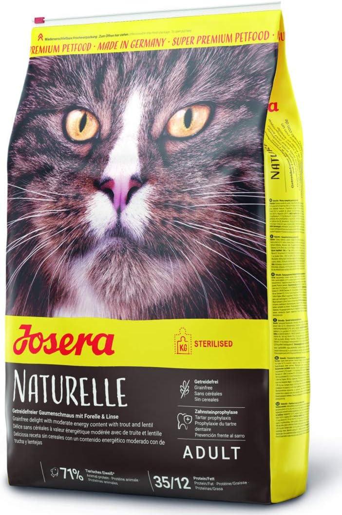 JOSERA Saco de comida para Gato - Naturelle, 4,25kg, Gato