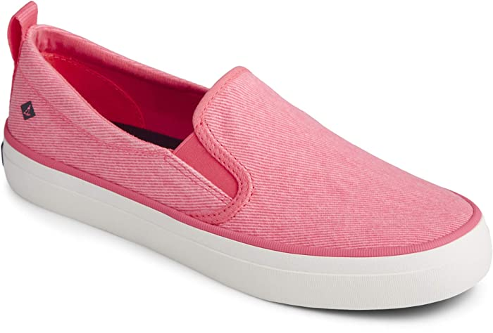 Sperry  Crest Twin Gore Washed Twill (Neon Pink) Womens Shoes