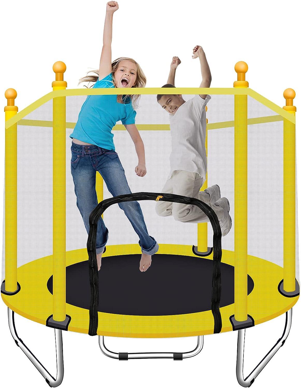 Kids Trampoline - 55 Inch Trampoline for Kids Outdoor  Indoor M