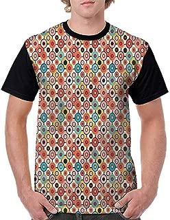 BlountDecor Round Neck T-Shirt,Antique Look Sea Creature Fashion Personality Customization