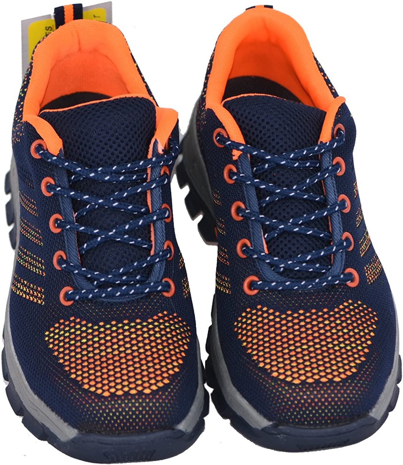 GeBaoZhen Unisex Work Safety shoes, Steel Toe Work shoes Industrial & Construction shoes Puncture Proof Safety shoes orange