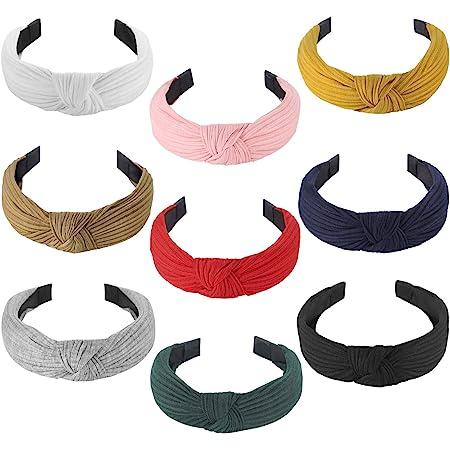 Knotted Headband blue Knot Headband Girl headbands Women/'s Headband royal blue Turban polka dots Thick Headband Head Wrap