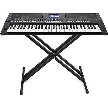 Greensen Supporto per Pianoforte in Metallo Supporto per Tastiera Supporto per Tastiera a Forma di X per Strumento a Tastiera
