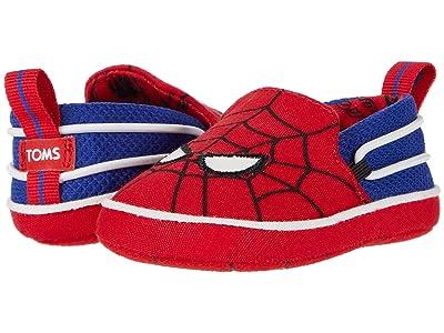 TOMS Kids Lima (Infant/Toddler) (Red Marvel Spider Man Face Print) Kid