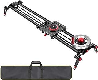 Neewer Kamera Schienen Schieberegler Dolly Schienenstabilisator: 80 cm Schwungrad Gegengewicht verstellbare Beine Tragetasche DSLR Kamera Camcorder Schiene
