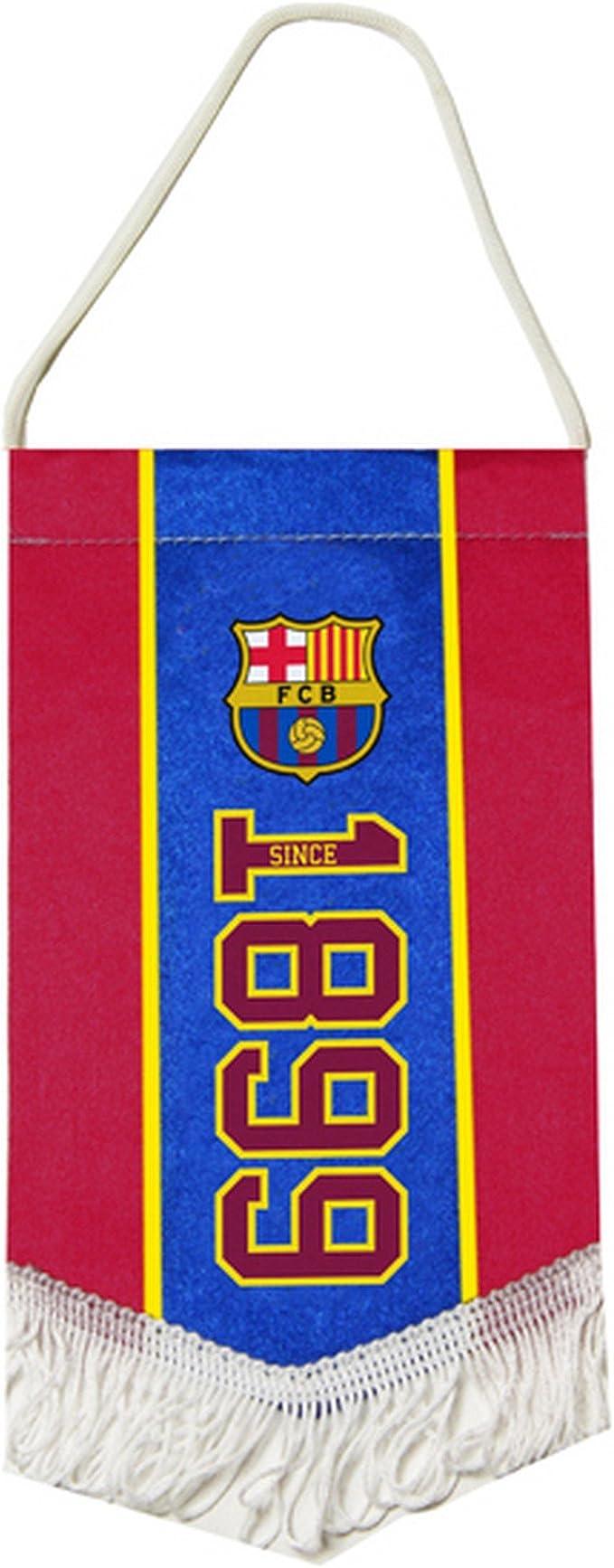 BARCELONA MINI PENNANT HANGING CAR ROOM 1889 OFFICIAL FOOTBALL SOCCER CLUB NEW