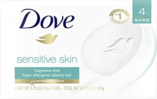 Dove Beauty Bar, Sensitive Skin 4 Ounce (Pack of 4)