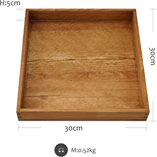 Chinese Style Tray Coffee Tray Dessert Table Plate Nordic Fores Wedding Props Tools Wood Jewelry Candle Display Storage,B05