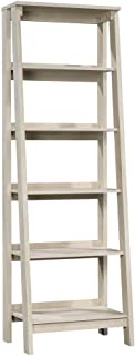 Sauder Trestle 5-Shelf Bookcase, Chalked Chestnut finish