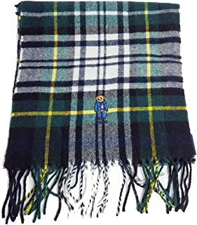 Polo Ralph Lauren Men's Bear Embroidered Plaid Scarf