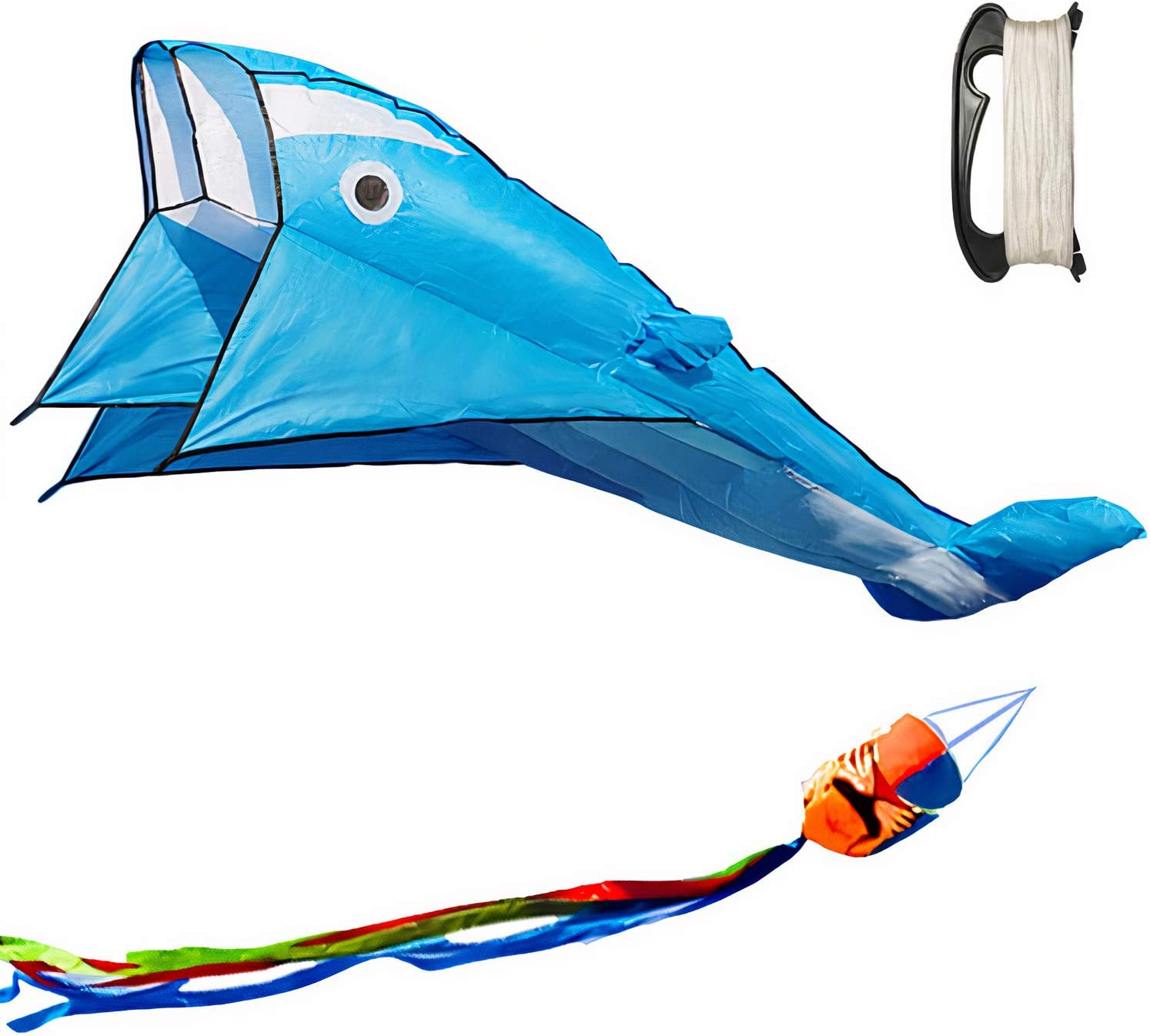 discount UiUNLY 3D Kites for Adults Kids Large Beach Ranking TOP11 Dolphin Blue B