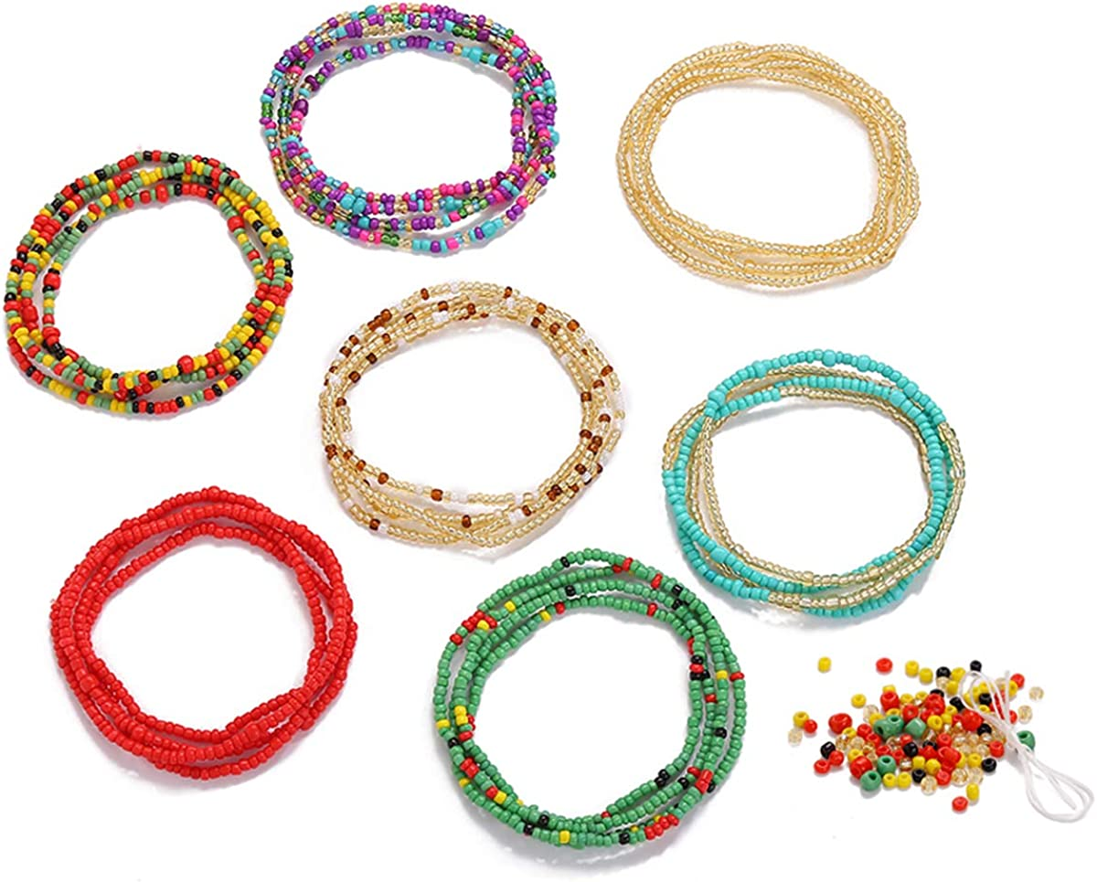 Waist Beads for Weight Loss Stretchy African Waist Beads for...
