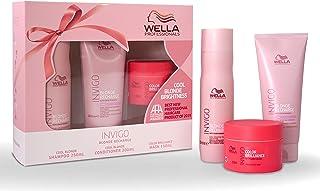 Wella Invigo Blonde Recharge Trio, Cool Blonde Shampoo 250ml + Cool Blonde Conditioner 200ml + Color Brilliance Mask 150ml