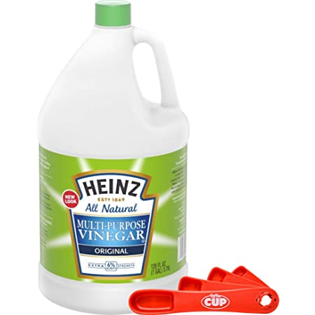 Heinz All Natural Multi-Purpose Cleaning Vinegar 1 Gallon Bottle with By The Cup Swivel Spoons
