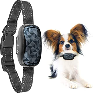 GoodBoy Small Rechargeable Dog Bark Collar for Tiny to Medium Dogs Weatherproof and Vibrating Anti Bark Training Device Th...