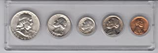 1959 Birth Year Coin Set (5) Coins -Half Dollar, Quarter,Dime, Nickel, and Cent -UNCIRCULATED- All dated 1959 and Displayed in A Plastic Holder Choice Uncirculated