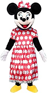 Minnie Mouse Adult Mascot Costume Fancy Dress Cosplay Outfit