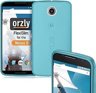 Nexus 6 Case, Orzly - FlexiSlim Case for Nexus 6 (2014 Model Google Nexus 6 Smartphone by Motorola) - Super Slim (0.5mm) Protective Phone Cover in Semi Transparent Blue