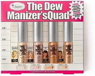 Dew Manizer's Quad Liquid Highlighter, All-Over Illuminator, Highly Pigmented, Set of 4