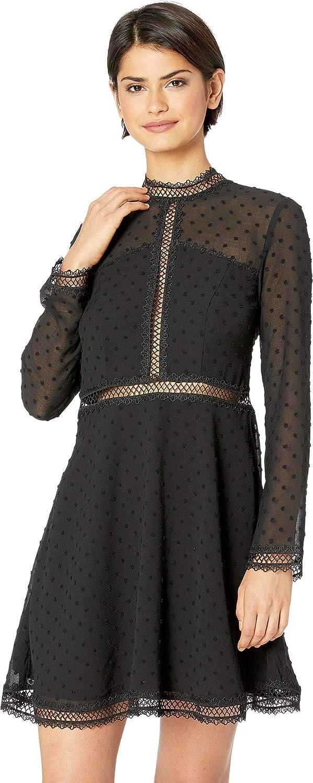 Bardot Womens Dobby Trim Dress