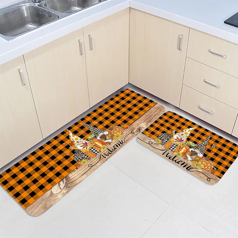 2 Pieces Kitchen Ranking TOP16 Mats Floor Area Industry No. 1 Doormat Set Non-Slip Autum Rug