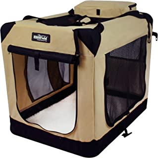 """EliteField 3-Door Folding Soft Dog Crate, Indoor & Outdoor Pet Home, Multiple Sizes and Colors Available (42"""" L x 28"""" W x ..."""