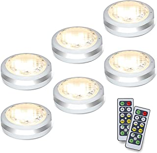 Puck Lights with Remote,Starxing Wireless Led Puck Lights Battery Operated,Led Lights with Remote Control,LED Under Cabine...