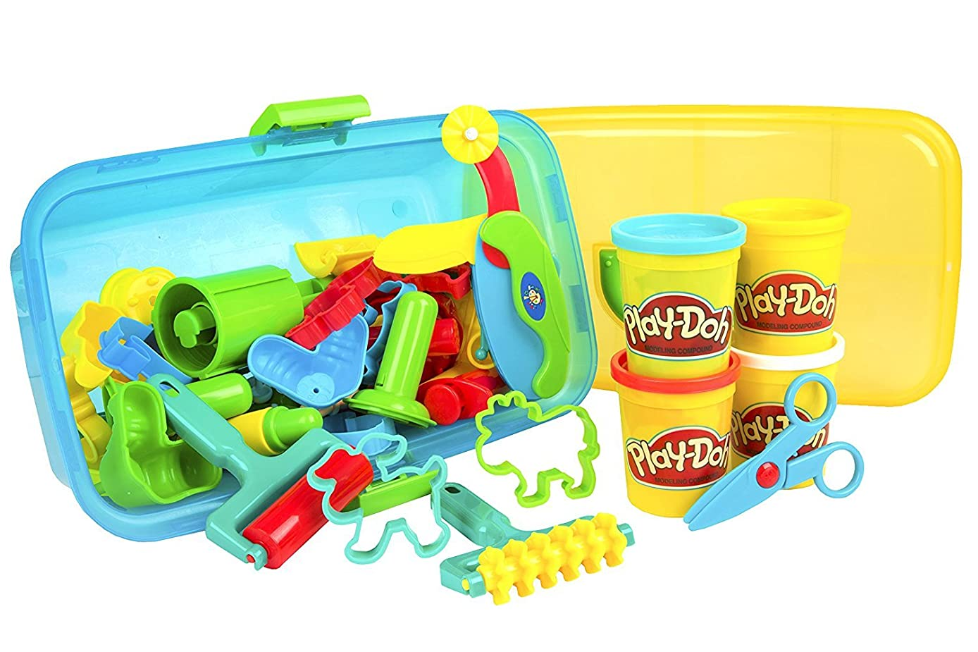 CP Toys Clay Center with Four 5 oz. PLAY-DOH Brand Modeling Compound and Storage Case