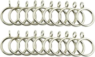 Partstock 20pcs Curtain Rings Metal Hanging Ring Accessories for Shower Curtains Rods 25mm Inner Diameter