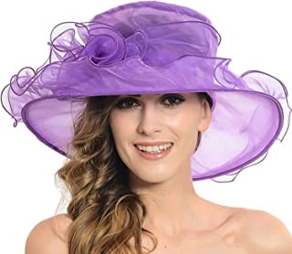Women Organza Kentucky Derby Fascinator Lady Cocktail Tea Party Church Wedding Bridal Flower Hat
