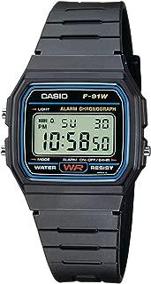 Casio casual black resin digital watch F91W
