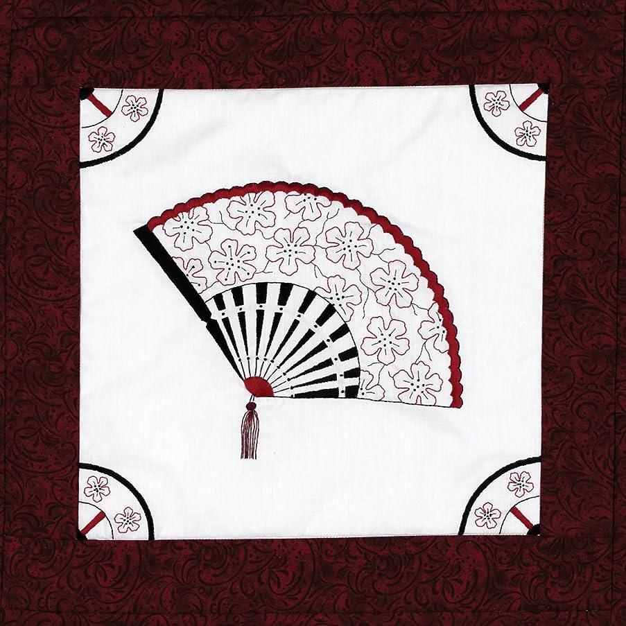 Janlynn Stamped Cross Stitch Quilt, Block Oriental Fan