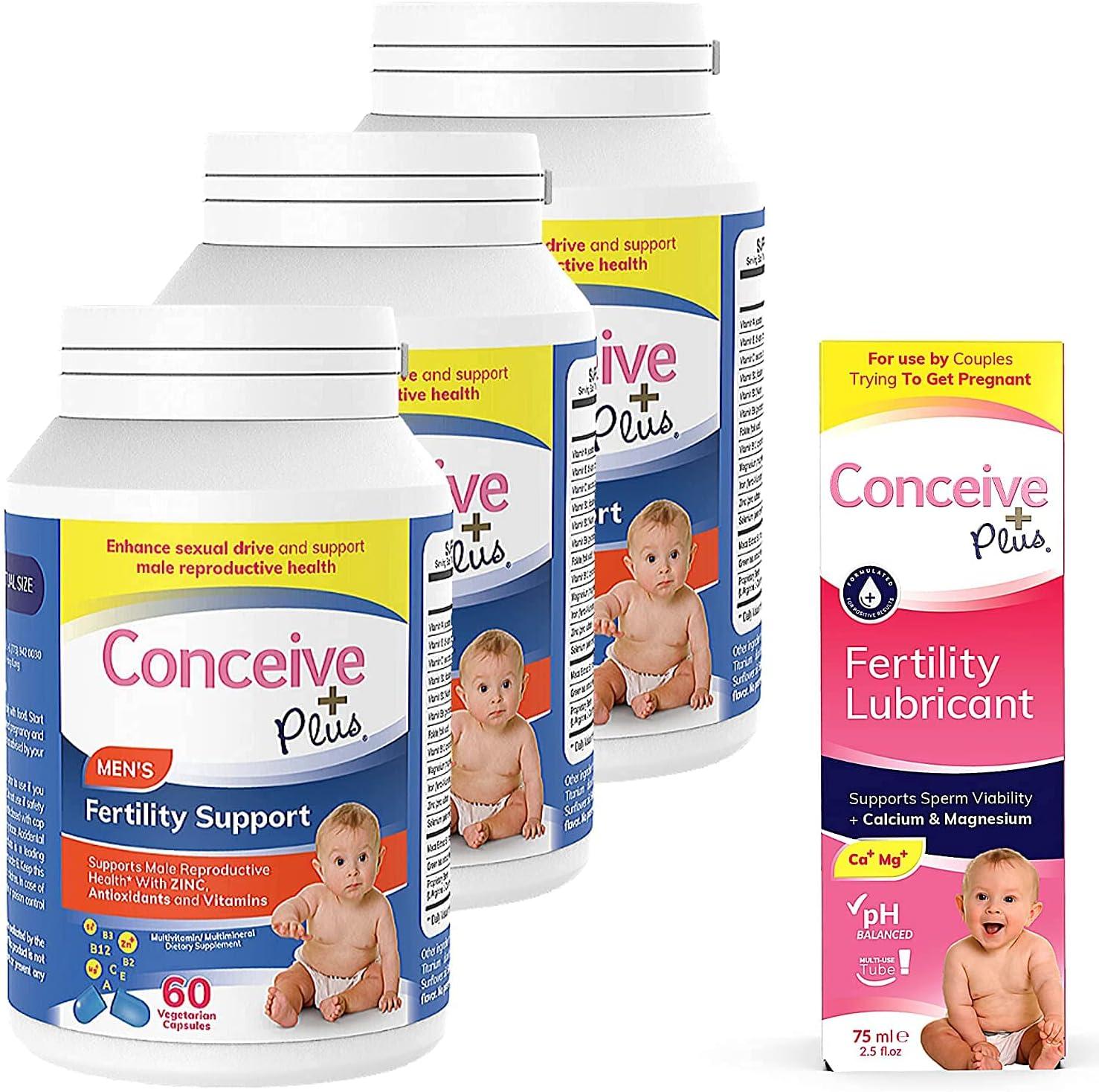CONCEIVE 新入荷 流行 PLUS Mens Fertility 高級な Bundle Months Fertilit Supply 3