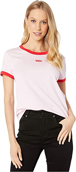 Levi's Text Chest Ringer Pink Lady