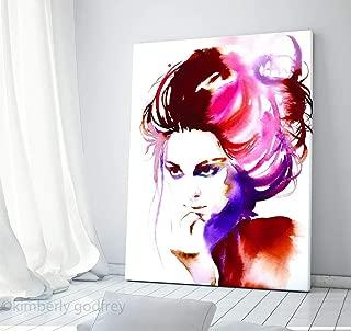 Beautiful Fine Art Print for Salon Decor Hairdo Pink Hair Beauty Icon