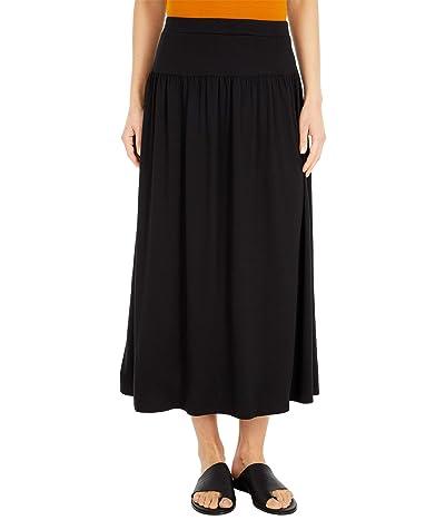 Eileen Fisher Full-Length Flare Skirt (Black) Women