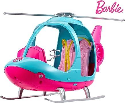 Barbie FWY29 - Reise Hubschrauber mit Platz für zwei Puppen aus Barbie Dreamhouse Adventures, Puppen und Puppenzubehör Spielzeug ab 3 Jahren