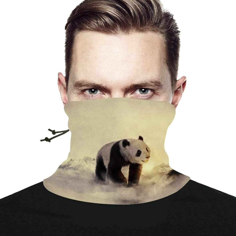 Panda Artwork Seamless Scarf Headwear Neck Gaiter Bandana Neck Warmer Multifunctional Face Cover Windproof UV Protection For Men Women
