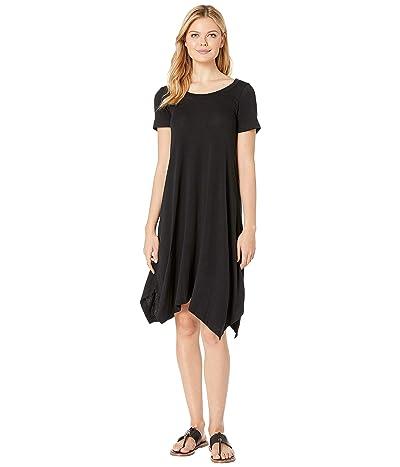 Nally & Millie Short Sleeve Sharkbite Dress (Black) Women