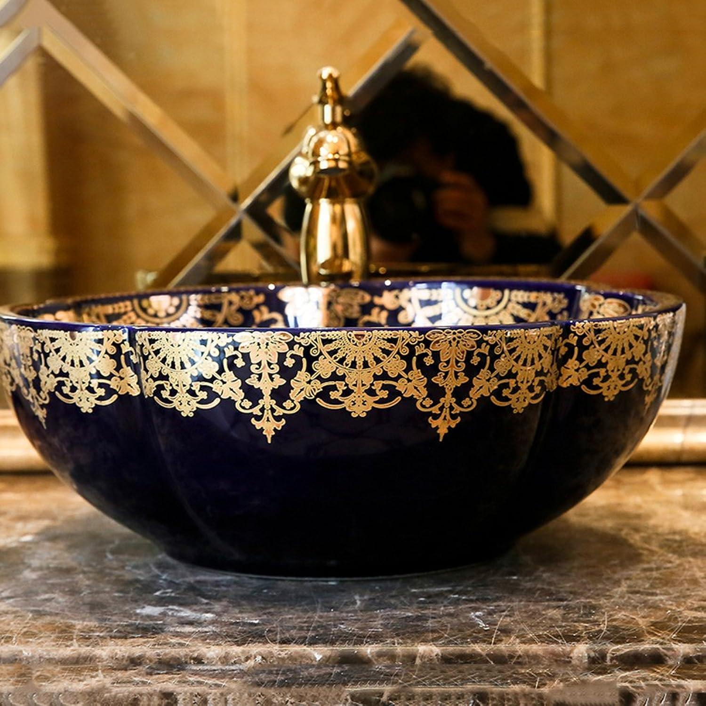 GAOLI Waschbecken Im Badezimmer über Dem Waschbecken Europa Und Amerikanischen Runden Haus Einfache Waschbecken Keramik Kunstbecken