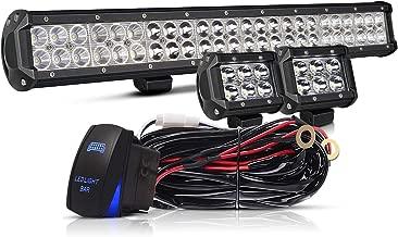 TURBOSII 22/23 Inch Led Light Bar 144w 14400LM Spot Flood Combo Work Light Off Road Lights Driving Lights + 4