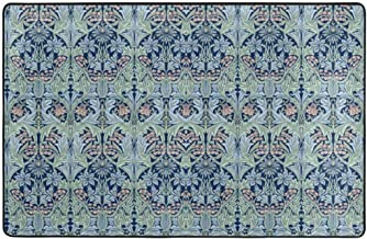 Area Rug with Non-Slip Rubber Backing William Morris Bluebell Columbine for Living Room Dining Room Office for Floors