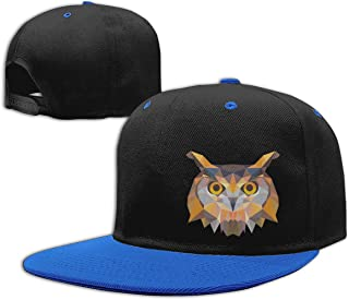 Eyscar Women's&Man Colorful Geometric Owl Unisex Sport Baseball Cap Adjustable Strapback