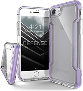X-Doria iPhone 8 & iPhone 7 Case, Defense Clear Series - Military Grade Drop Protection, Clear Protective Case for iPhone 8 & 7 (Purple)