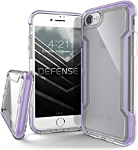 X-Doria iPhone 8 & iPhone 7 Case, Defense Clear - Military Grade Drop Protection, Clear Protective Case for iPhone 8 & 7 (Purple)