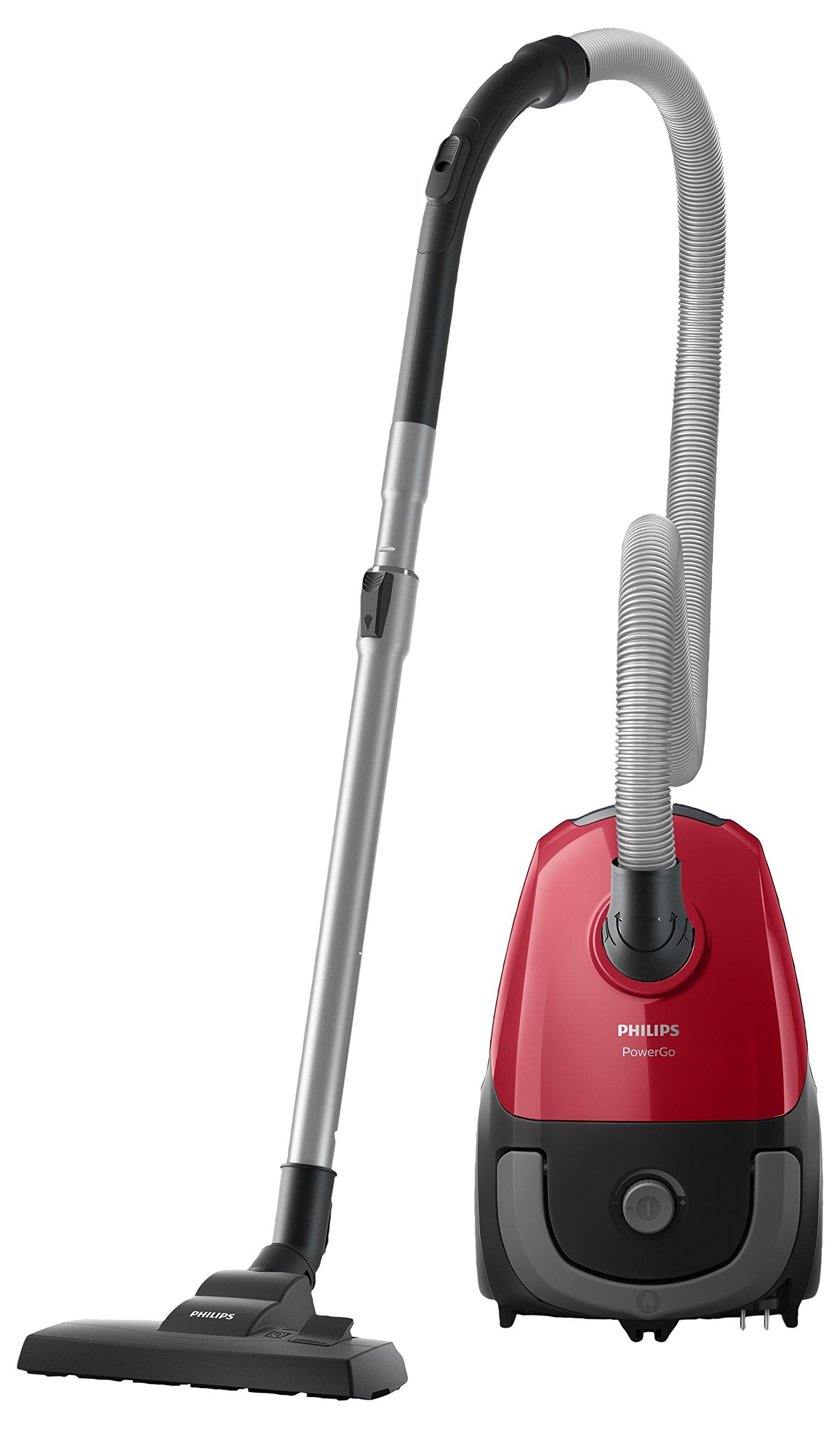 Philips Aspirador con bolsa FC8243/09, 750 W, 3 litros, 77 Decibelios, Plástico, Negro, Rojo: Amazon.es: Hogar