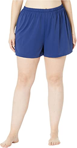Plus Size Solids Separate Jogger Short Bottoms