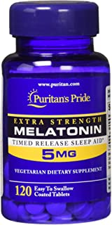 Puritans Pride Melatonin 5 mg Timed Release, 120 Count
