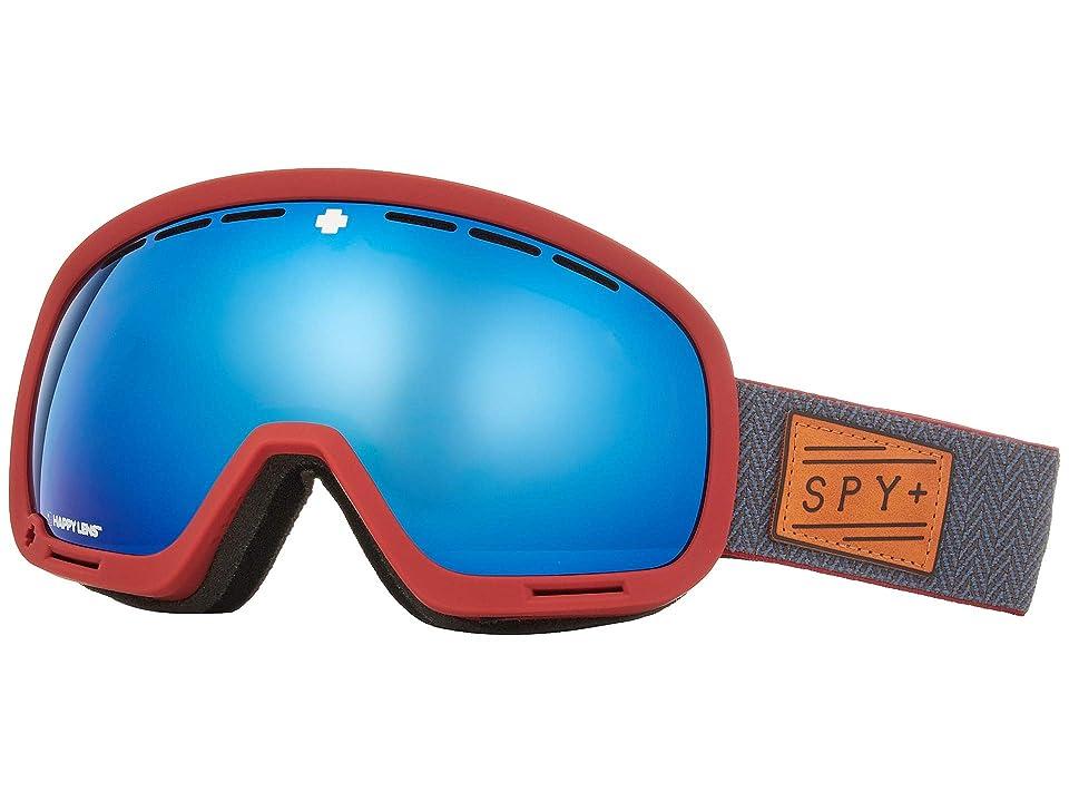 33c61c7c7afa Spy Optic Marshall (Herringbone Red Happy Rose w  Dark Blue Spectra+Happy  Light Gray) Snow Goggles
