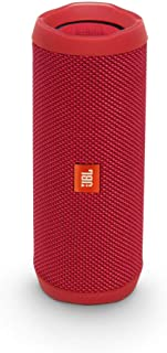 (Renewed) JBL Flip 4 Portable Wireless Speaker with Powerful Bass & Mic (Red)